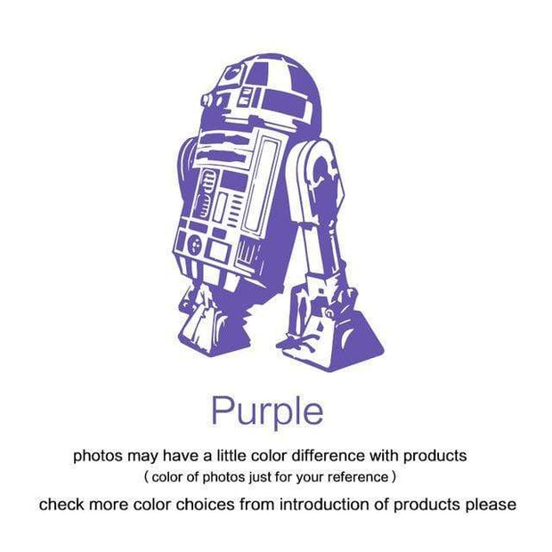 "R2 D2 Wall Sticker Purple / 34""x23"" Wall Sticker"