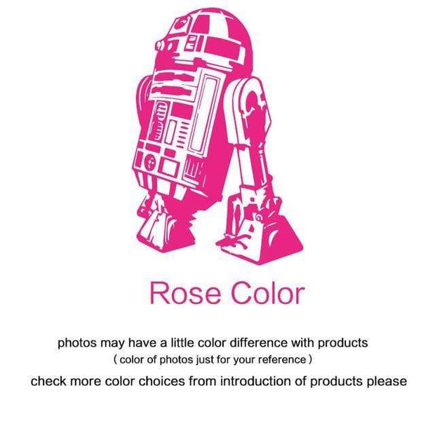 "R2 D2 Wall Sticker Rose red / 34""x23"" Wall Sticker"