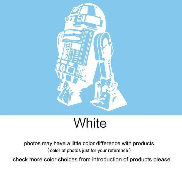 "R2 D2 Wall Sticker White / 34""x23"" Wall Sticker"