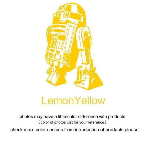 "R2 D2 Wall Sticker Yellow / 34""x23"" Wall Sticker"