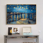 "Replica of Van Gogh's ""Starry Night"" Oil Painting By Hand 36""x48"" / 04 Oil Painting"