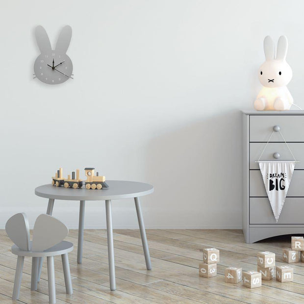 Scandinavian Inspired Wooden Rabbit Clock Accessories