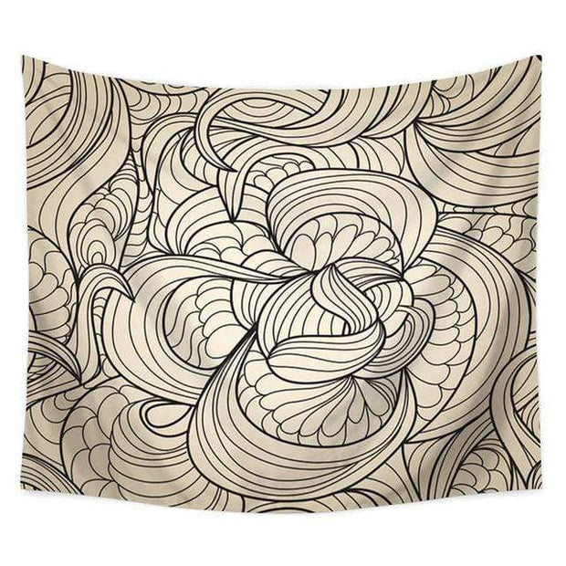 "Sea Wave Printed Wall Hanging Tapestry 4 / 60""x40"" Tapestry"