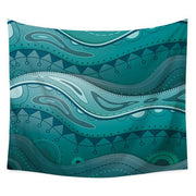 "Sea Wave Printed Wall Hanging Tapestry 5 / 60""x80"" Tapestry"