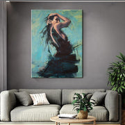 Seductive Pose of a Woman Oil Painting Canvas Oil Painting