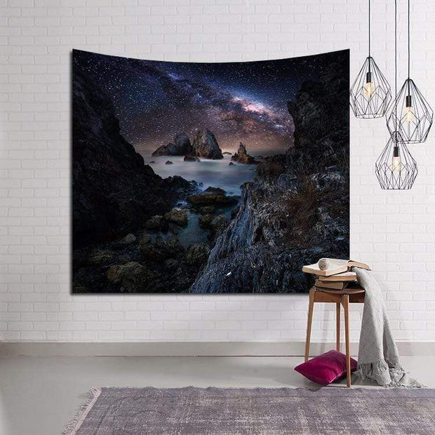 Sky Filled with Milky Way Wall Tapestry Tapestry