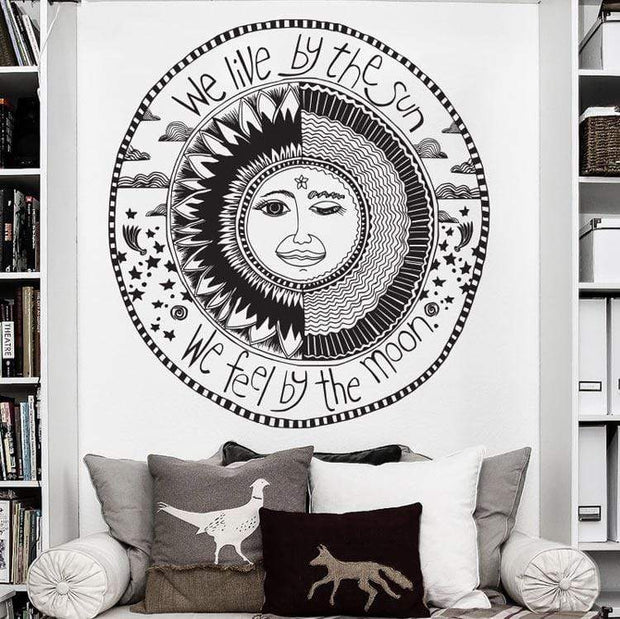Sun and Moon Inspirational Yoga Wall Sticker Wall Sticker