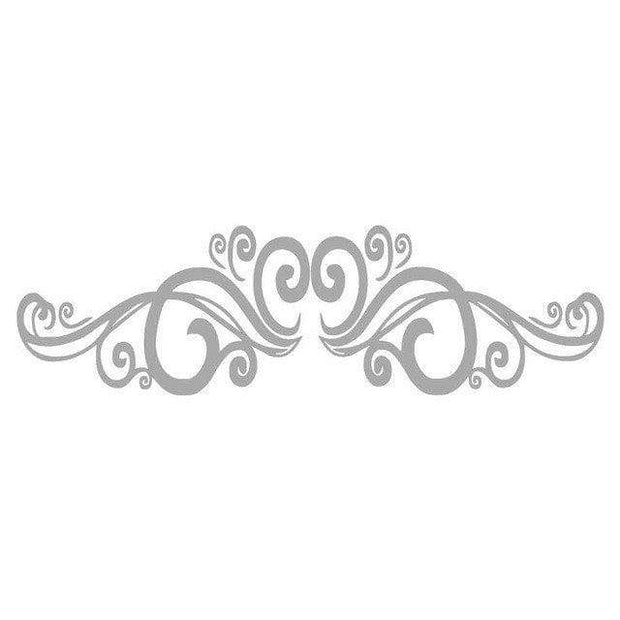 Symmetrical Swirls Headboard Wall Sticker Wall Sticker