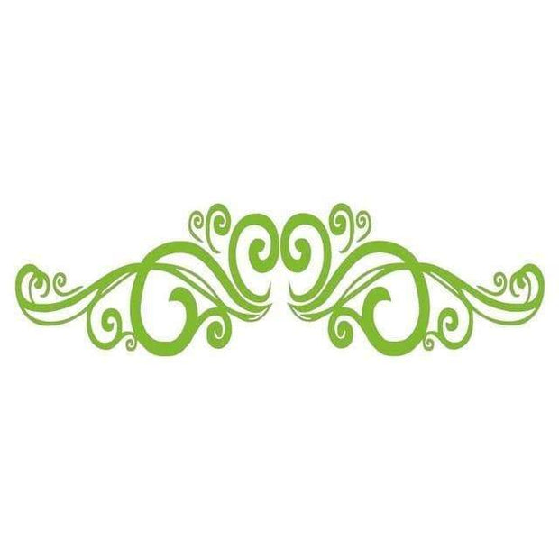 "Symmetrical Swirls Headboard Wall Sticker Light Green / 56""x16"" Wall Sticker"