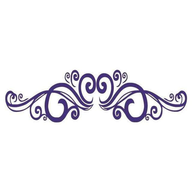 "Symmetrical Swirls Headboard Wall Sticker Purple / 56""x16"" Wall Sticker"