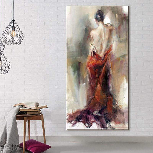 "The Figures of Passionate Women Oil Painting on Canvas C / 16""x20"" / Framed Oil Painting"