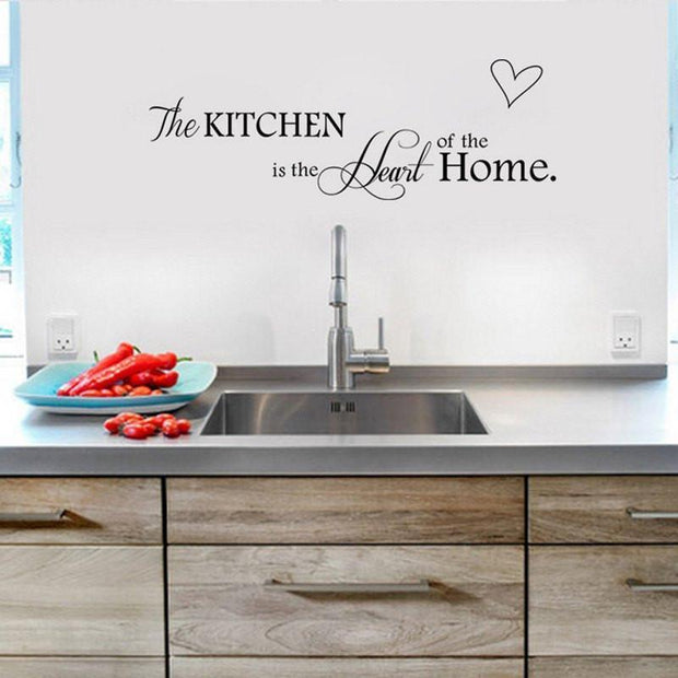 "The Kitchen is the Heart of the Home Wall Sticker 26""x6"" Wall Sticker"