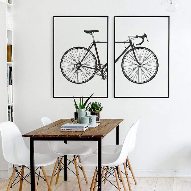 Two Piece Good Looking Bicycle Canvas Print Canvas