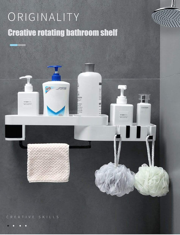 Unique & Well Designed Bathroom/Shower Shelf with Lots of Storage Accessories