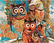 Vintage Owl Painting By Numbers DIY