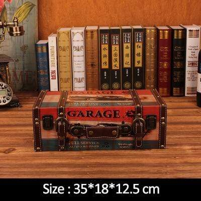 "Vintage Suitcase Shelves For Wall Decor Garage / 14""x7.2""x4.8"" Accessories"