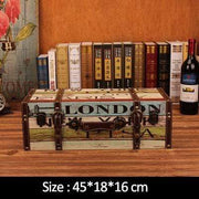 "Vintage Suitcase Shelves For Wall Decor London / 18""x7.2""x6.4"" Accessories"