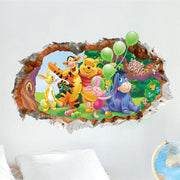 "Winnie the Pooh & Friends Nursery Wall Stickers Pooh 3D Decal (28"" X 20"") Wall Sticker"