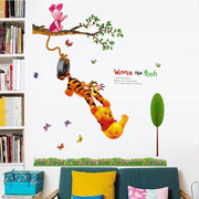 "Winnie the Pooh & Friends Nursery Wall Stickers Pooh & Tiger (12"" x 24"") Wall Sticker"