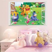 "Winnie the Pooh & Friends Nursery Wall Stickers Pooh Window (36"" X 24"") Wall Sticker"