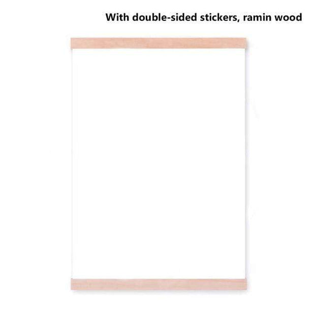 "Wooden Poster Hanger DIY Photo Frame 8"" (21cm) / Ramin Wood Cordless"
