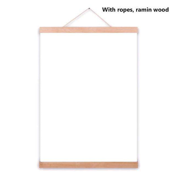 "Wooden Poster Hanger DIY Photo Frame 8"" (21cm) / Ramin Wood Frame"