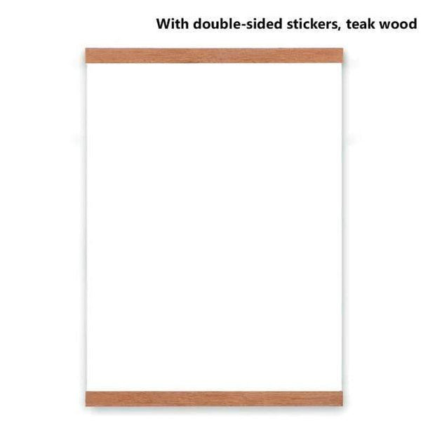 "Wooden Poster Hanger DIY Photo Frame 8"" (21cm) / Teak Wood Cordless"