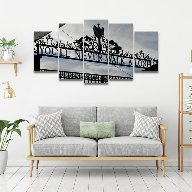 You'll Never Walk Alone - Liverpool FC 5 Piece Canvas Art canvas