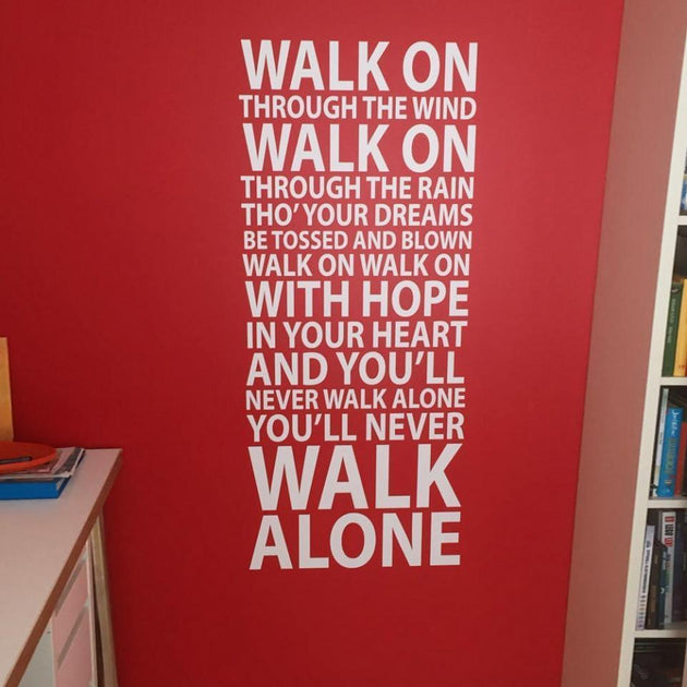YNWA Lyrics Wall Sticker For Liverpool FC Fans Wall Decor ...
