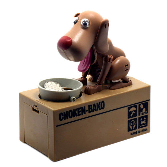 Robotic Dog Banco Canino Money Box Money Bank Automatic Stole Coin