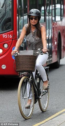pippa middleton cycling in London 2016
