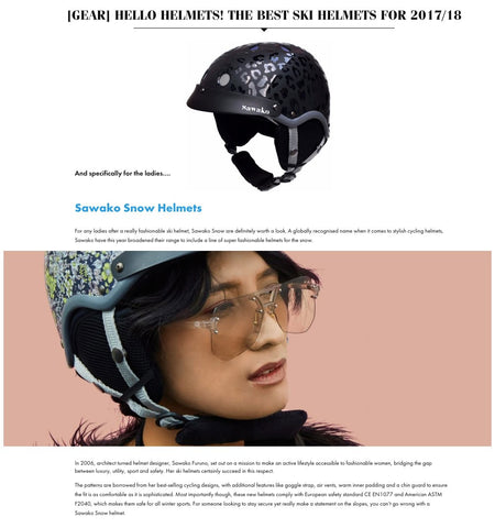 in the snow article sawako ski helmet the best helmet