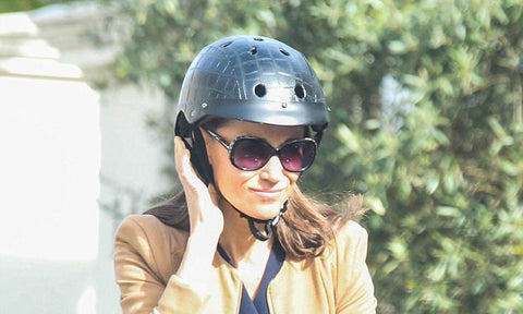 pippa middleton with sawako crocodile helmet