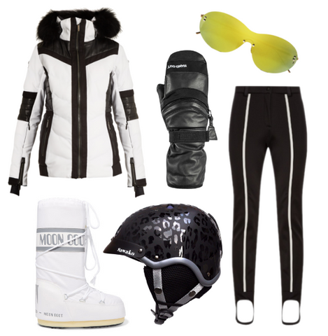 ski fashion styling for blog post