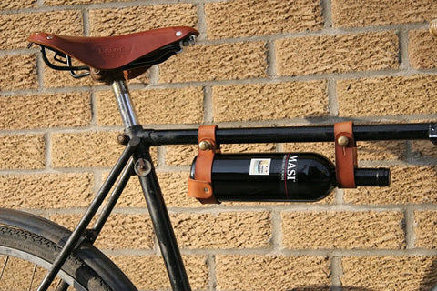 wine bottle holder on bike