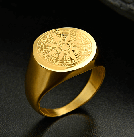 Compass Ring | Stainless Steel Gold DepotClick