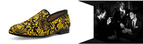Fashion Shoes | Slip-On | Horse Hair | Yellow-Black DepotClick
