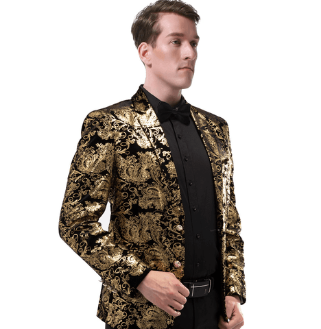 Gold Blazer | Suit Jacket Fashion DepotClick