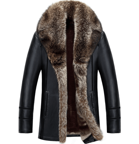 Jacket Winter|Russian Style|Black-Brown DepotClick