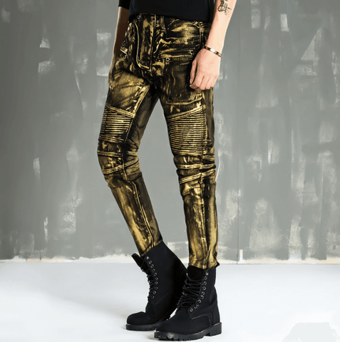 Jeans Gold Coated Skinny-DepotClick