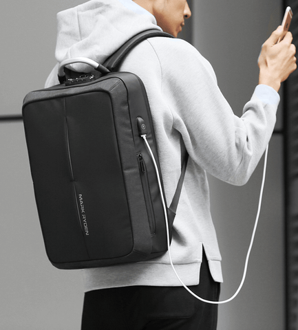New Anti-thief USB Recharging Men Backpack-DepotClick