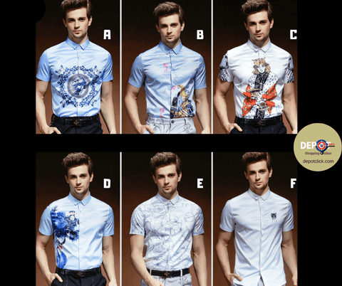 Print Shirt Fashion | European Slim | Anti-Wrinkle DepotClick