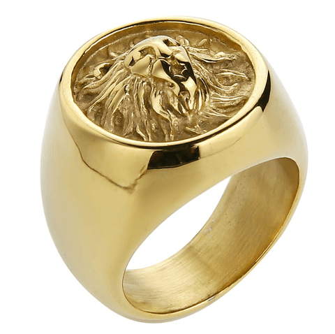 Ring Lion | Gold-Silver-Black | Titanium | 7-13 DepotClick