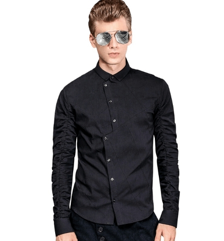 Shirt Black Irregular|Fashion-DepotClick