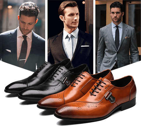Shoes Brogue |Italian Designer|Black-Brown|Leather- Lace Up DepotClick