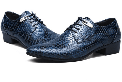 Lace-Up Dress Shoes for Men Snakeskin-Depotclick