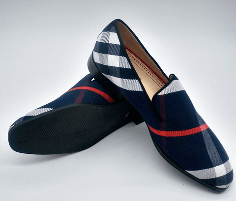 Shoes Mixed-Color Plaid Canvas | High Quality DepotClick