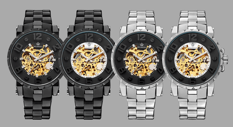 Wrist Watch Black | Mechanical | 4 Designs-DepotClick