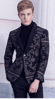 Blazer Black | Baroque Embroidery |  British Style