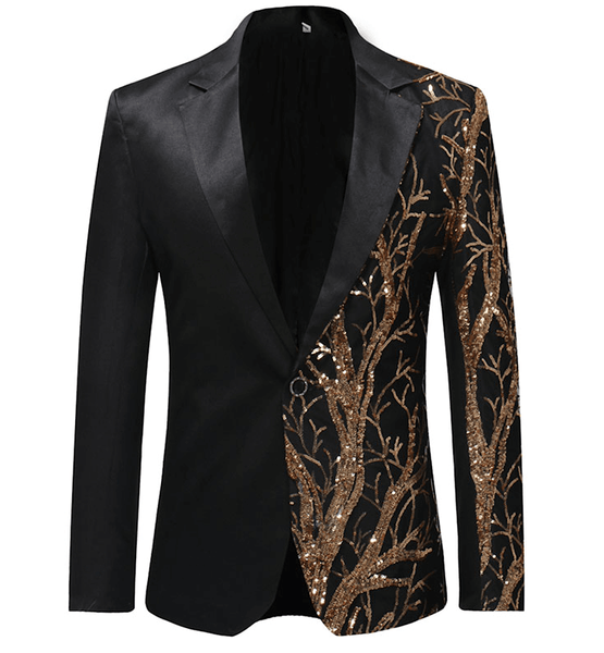 Blazer Black | Golden Sequin | Fashion